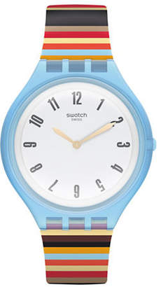 Swatch Skin Collection Skinstripes Plastic Multi-Coloured Silicone Strap Watch