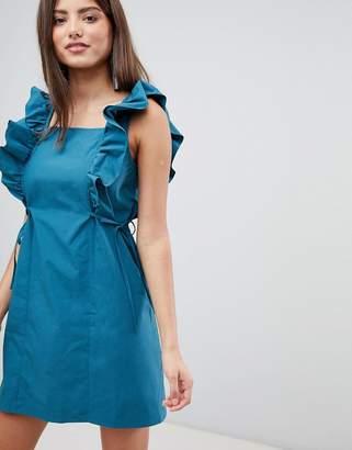 Fashion Union Frill Sleeve Mini Dress