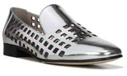 Diane von Furstenberg Linz Metallic Cut-Out Loafers