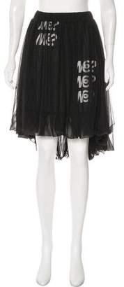 Y-3 Asymmetric Hem Knee-Length Skirt