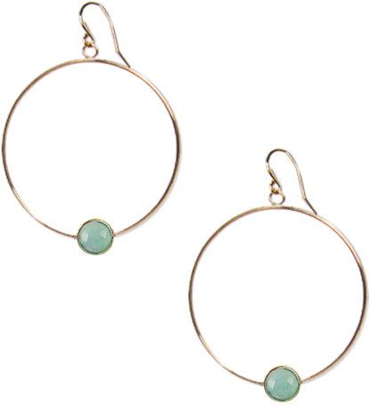 Ariel Gordon Jewelry :: Opal Hoops