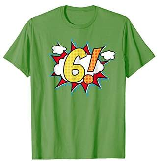 Mens 6th Birthday T-Shirt Age 6 For Kids For Boys For Girls 3XL