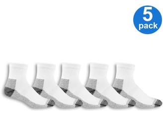 Fruit of the Loom Men's Big & Tall Workgear Ankle Socks 5 Pack
