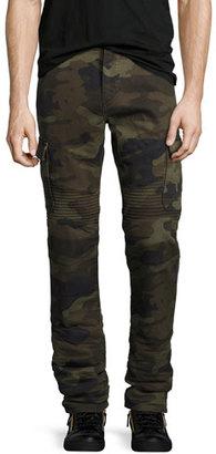 True Religion Rocco Camo-Print Cargo Pants, Green Pattern $249 thestylecure.com