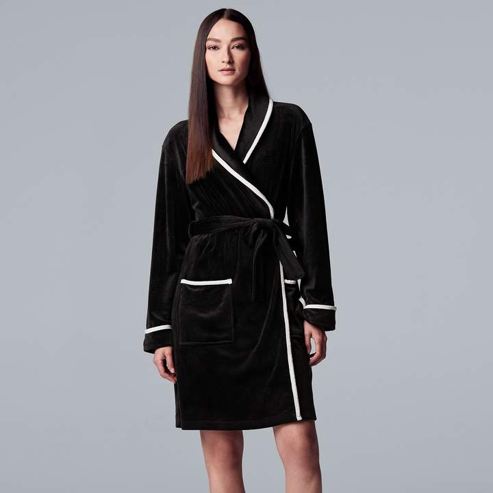 Women's Simply Vera Vera Wang Printed Plush Wrap Robe