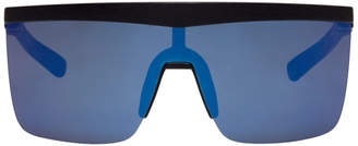 Mykita SSENSE Exclusive Black Trust Shield Sunglasses