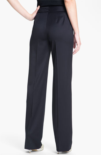 St. John 'Shelley' Stretch Venetian Wool Pants Womens Navy Size 0 0