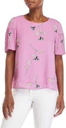 Vero Moda Elena Floral Pleated Sleeve Top