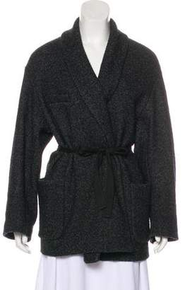 Etoile Isabel Marant Shawl Collared Wool Coat