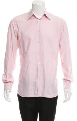 Prada Point Collar Button-Up Shirt