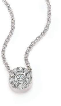 Hearts On Fire Fulfillment Diamond& 18K White Gold Pendant Necklace