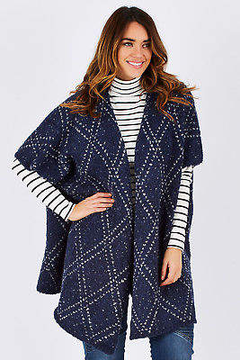 Hatley NEW Womens Cardigans Cocoon Blanket Sweater Size OneSize NavyYard - Tops