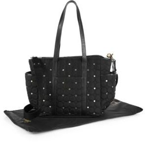 Rebecca Minkoff Marissa Quilted & Studded Diaper Bag $345 thestylecure.com