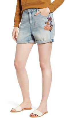 Scotch & Soda Embroidered Boyfriend Denim Shorts