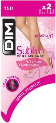Dim 2 Pack Sublim Glossy Sheer Knee High 15D
