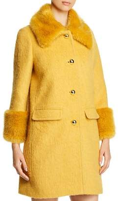 Kate Spade Faux-Fur Collar Coat