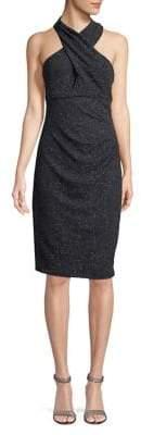 Eliza J Criss-Cross Blouse Dress