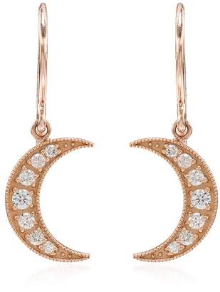 Andrea Fohrman Crescent Moon diamond earrings