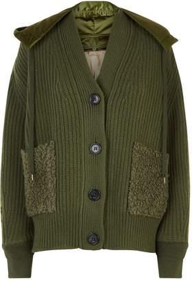 N°21 N 21 Chunky Knit Bomber Jacket