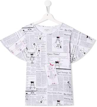John Galliano TEEN newspaper print T-shirt