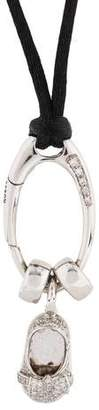 Aaron Basha 18K Diamond & Silk Cord Shoe Diamond Pendant Necklace