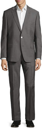 Versace Slim-Fit Pinstriped Two-Piece Suit, Gray