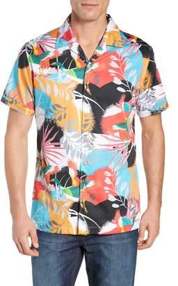 Robert Graham Sakura Classic Fit Print Sport Shirt