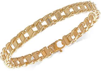 Italian Gold Unisex Railroad Link Bracelet in 10k Gold