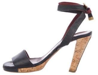 Chanel Leather Wrap-Around Sandals Navy Leather Wrap-Around Sandals