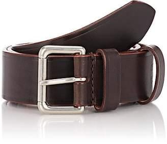 Felisi Men's Numbered Leather Belt - Brown