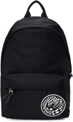 McQ Black Swallow Patch Classic Backpack