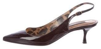 Dolce & Gabbana Patent Leather Slingback Pumps