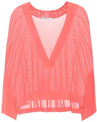 Agnona Jersey V-neck sweater