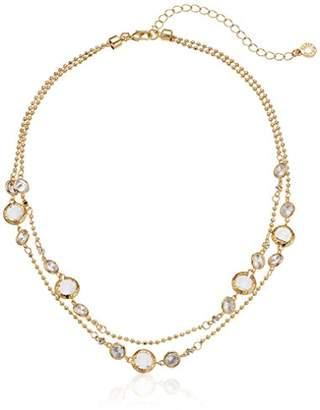 Anne Klein 2 Row Collar Necklace