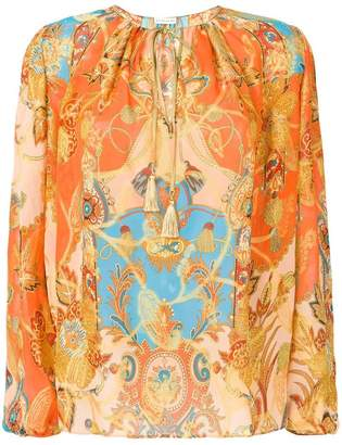 Etro front printed blouse