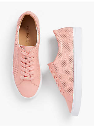 Talbots Perforated Leather Sneakers