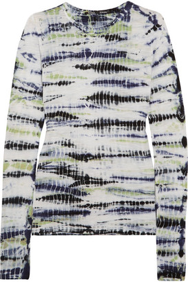 Proenza Schouler - Tie-dyed Cotton-jersey Top - Lilac $275 thestylecure.com