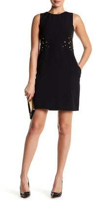 Julia Jordan Sleeveless Grommet Shift Dress $158 thestylecure.com