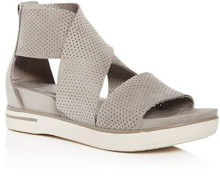 Eileen Fisher Women's Perforated Crisscross Platform Sandals