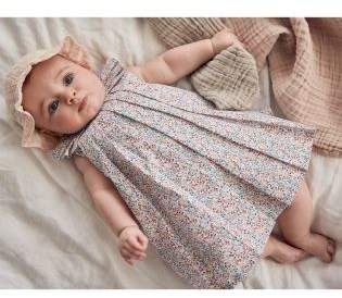 Next Girls Blue Ditsy Printed Prom Dress And Cardi Set (0mths-2yrs)