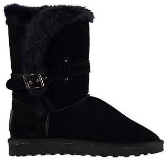 Soul Cal SoulCal Womens Bardi Snug Boots Buckle Fastening Faux Fur Trim Everyday Stitched