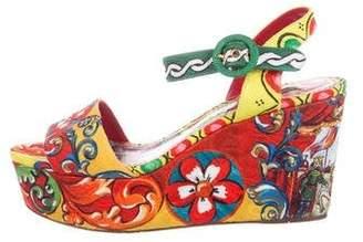 Dolce & Gabbana Teatro Dei Pupi Platform Sandals