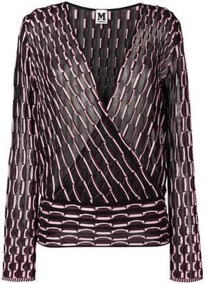 M Missoni patterned blouse