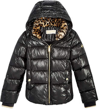 Michael Kors Little Girls Puffer Jacket with Removable Hood
