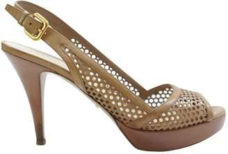 Prada Brown Leather High Heel