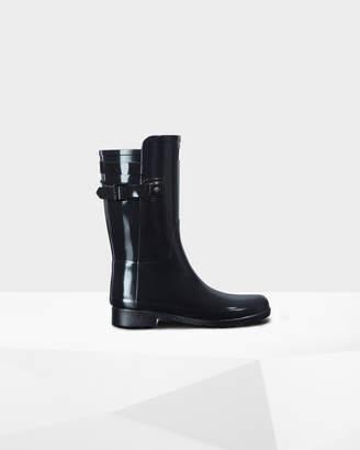 Hunter Women's Original Short Refined Back Strap Gloss Rain Boots