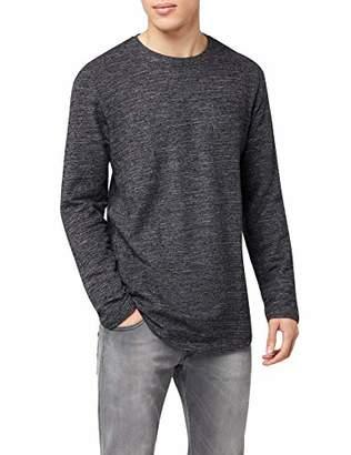 dcdb775d Jack and Jones Men's JCOOZIL TEE LS CREW NECK NOOS Long Sleeve Top, Grey (
