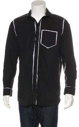 Givenchy Distressed Button Shirt