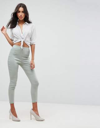 848dee0be9ddc High Waisted Skinny Crop Trousers - ShopStyle UK