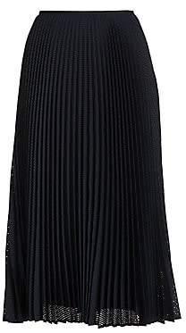 Fendi Women's Perforated Pleated Midi Skirt